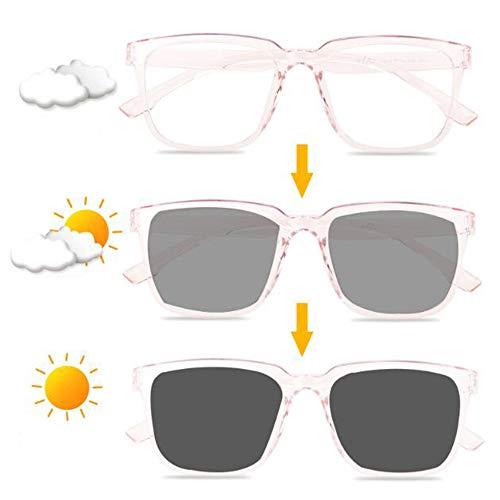 WZYX Gafas De Sol Fotocromáticas para Mujer, Gafas De Lectura Multifoco Progresivas Gafas De Presbicia Protección UV, Antideslumbrante