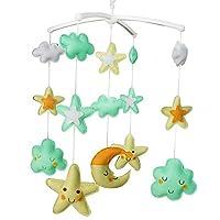 美しい星のベッドの装飾のおもちゃ手作りのベビーベッドミュージカルモバイル