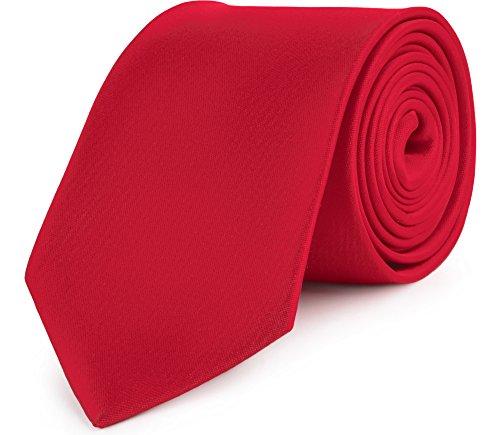 Ladeheid Herren Breite Krawatte KP-8 (150cm x 8cm, Dunkel Rot)