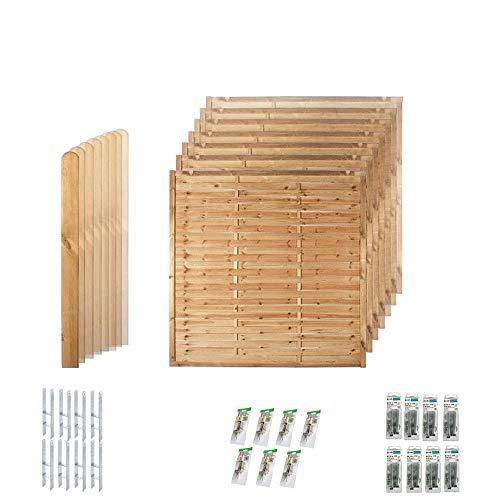 Komplett-Set Sichtschutz-Zaun