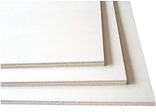 Hagspiel Laubsägeholz, 4 Stk. Sperrholz, Sperrholzplatten, Pappel 8 mm DIN A4 (ca. 30 cm x 21 cm)