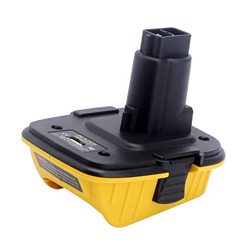 Elefly DCA1820 USB Adapter Replacement for Dewalt 18V to 20V Adapter, Convert Dewalt 20V Lithium Battery DCB204 DCB205 DCB206 to Dewalt 18V NiCad NiMh Battery DC9096 DC9098 DC9099