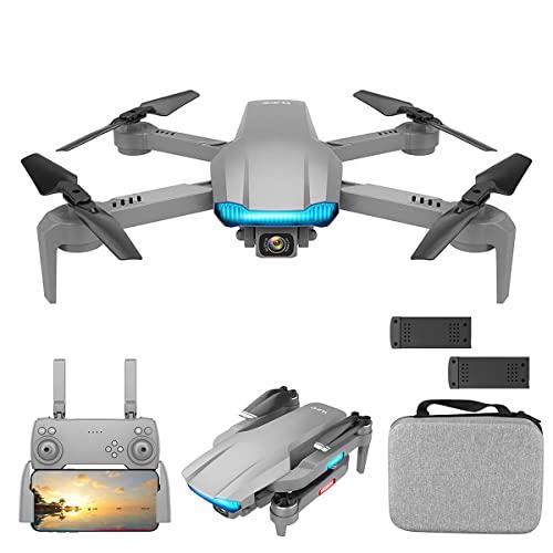 JJDSN Drone GPS con cámara para Adultos, 8K UHD 5G WiFi FPV Drone, Quadcopter RC Plegable con Motor sin escobillas, posicionamiento de Flujo óptico, Sígueme, Retorno automático, Bolsa de almacenam