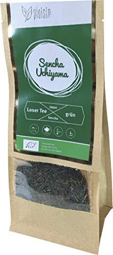 Plaisir loser Tee Japan Sencha Uchiyama Bio (100 GR) - Bio zertifiziert - Bio japanischer Grüntee