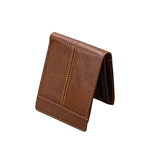 male wallets WangchngqingNQB Men's Wallet, Handmade Genuine Leather Men Wallet Male Purse Luxury Cow Leather Soft Wallets Vintage Simple Card Holder Cowboy Wallet (Color : Coffee)