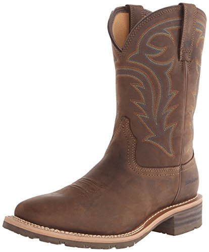 Ariat Men's Hybrid Rancher H2O Western Boot, Oily Distressed Brown, 11