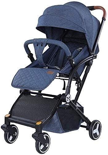 YQLWX Cochecito de Cochecito de bebé Sistema de Viaje de carruaje Infantil con Canasta de bebé Anti-Shock Springs recién Nacidos cochecitos de bebé Ajustable PRACA DE Vista Alta (Color: C)