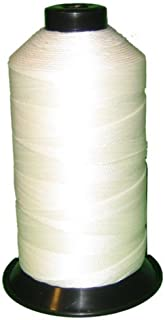 Bonded Nylon Sewing Thread V-69 T70 1500yds for Outdoor, Upholstery (White)