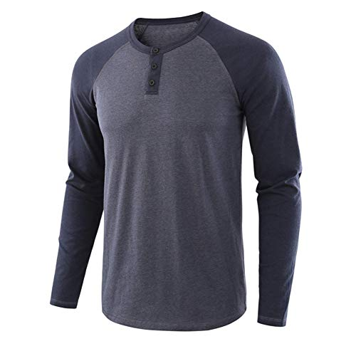 Herbst und Winter Langarm-T-Shirts Herren Casual Loose Round Neck Sweater