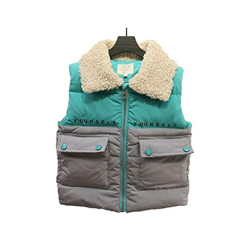 Dongxiao Casual Fleece Lapel Chaleco de Invierno con Capucha Chaqueta de algodón cálida Outwear Outwear Warm Weistcoat Chaleco Chaleco Pocket Coat Chritmas Tops Regalo Práctico