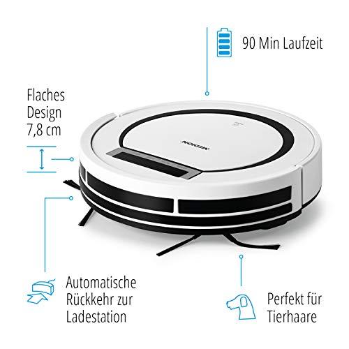 MEDION MD 18600 Saugroboter (90 Min. Laufzeit/autom. Rückkehr zur Ladestation/Direktabsaugung von...