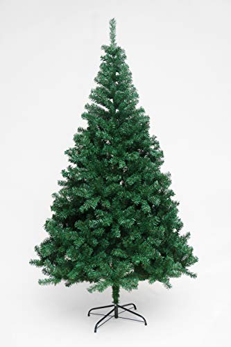 Evre Artificial Christmas Tree 6ft with 900 PVC Tips Branches & Strong Metal Stand (6Ft, Evergreen)