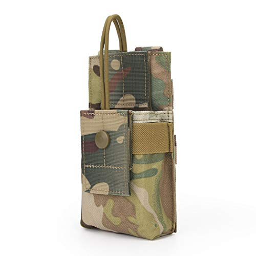 Aoutacc Molle Short Radio Pouch, Nylon Molle Tactical Radio Holder Case for BaoFeng UV-5R UV82 (CP)