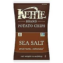 top 10 kettle brand chips Kettle brand potato chips, sea salt, 8.5 oz pack (12 packs)