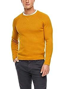 s.Oliver Herren Langarm Pullover, Yellow, M