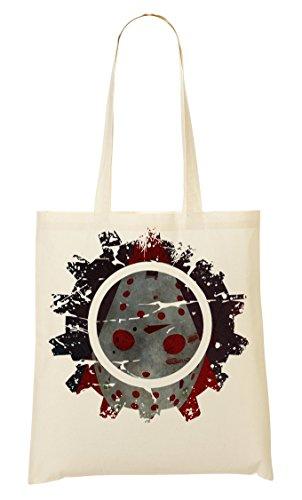 C+P Ice Hockey Mask Horror Tragetasche Einkaufstasche