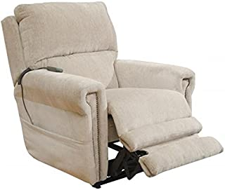Catnapper Warner 4862 Power Lift Full Lay Out Dual Motor Recliner Chair with Power Headrest and Extended Ottoman Footrest - 300 Weight Capacity Putty with in-Home Delivery