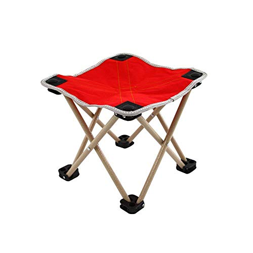 ACUIPP Portable Camping Stool Folding Light Chair Stool Camping Chair Outdoor Furniture for Fishing Hiking Mountaineering Flat Feet Stability and Carrying Bag,A