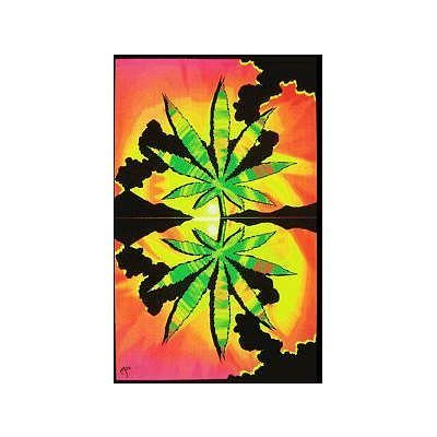 Opticz Maui Waui Leaf Blacklight Reactive Poster by Opticz