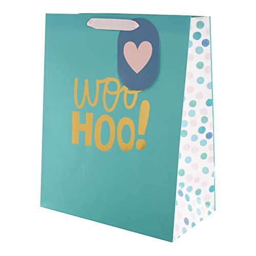 Hallmark Mehrzweck-Geschenktüte Woo Hoo, groß (Geburtstag, Glückwunsch, Hochzeit)