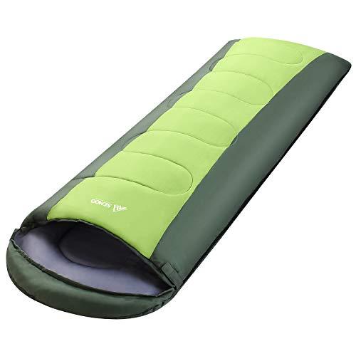 Semoo wasserdichter Schlafsack, 190T Polyester, leicht für Erwachsene, mit Kompressionsbeutel, für Camping, Festivals, Wandern, Zuhause oder im Freien