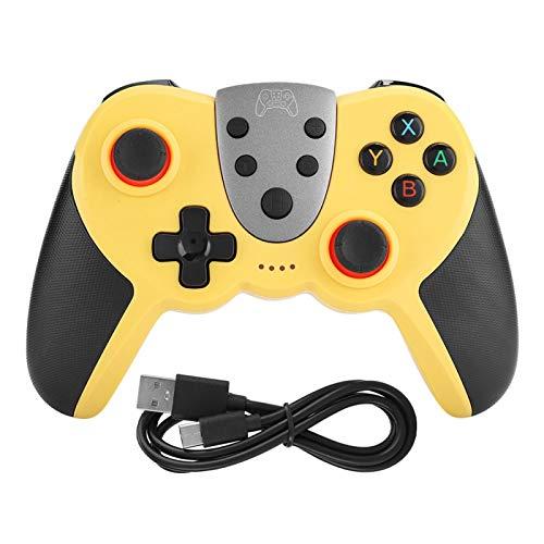 minifinker Gamepad inalámbrico Bluetooth Gamepa Wear, para Switch, para Entretenimiento(Yellow)