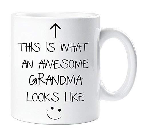 This is What an Awesome Grandma Looks Like Mug Gift Cute Present Xmas...