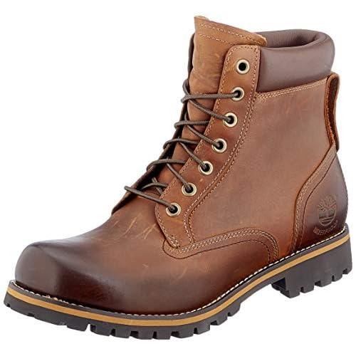 Timberland Rugged 6 Inch Plain Toe Waterproof, Stivali Stringati Uomo, Marrone Md Brown Full Grain, 45.5 EU