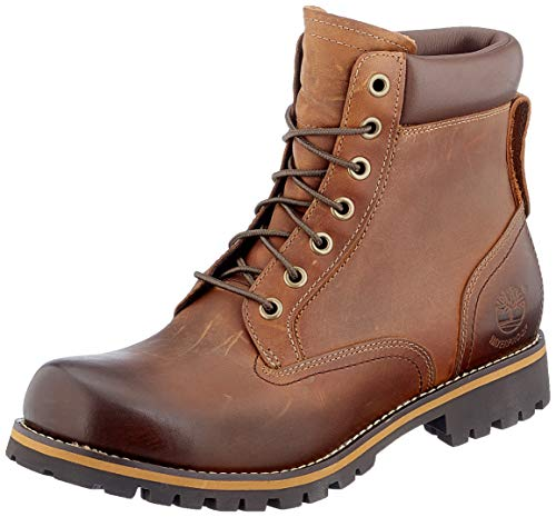 Timberland Herren Rugged 6 Inch Plain Toe Waterproof Stiefel, Braun (Md Brown Full Grain), 43 EU