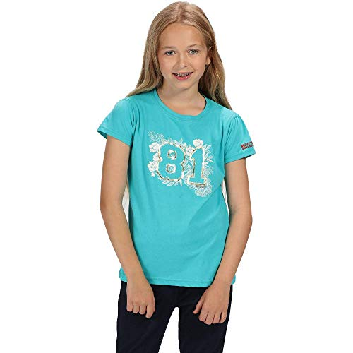 Regatta Bosley II Coolweave Cotton Graphic Print Camiseta, Infantil, Ceramic, 14 Años