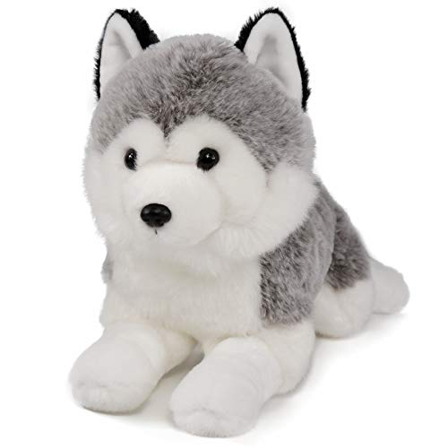 Lifelike Siberian Husky Stuffed Animal - Plush Toy - 14 Inches Length