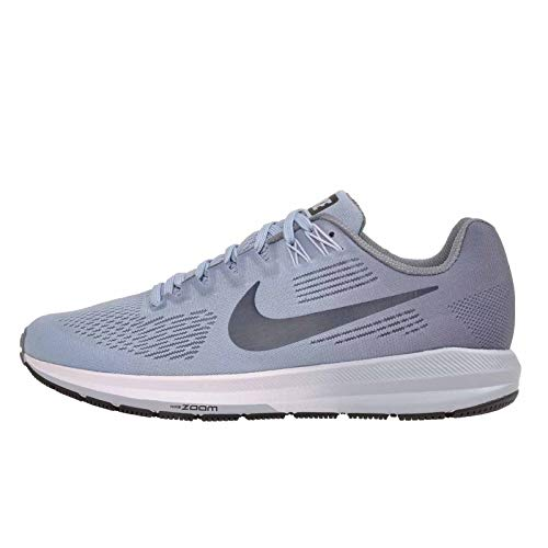 Nike Women's Air Zoom Structure 21 Running Shoe Wide (D) Armory Blue/Armory Navy-Cirrus Blue 9.5