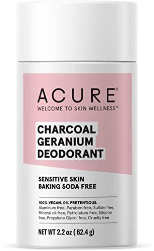 ACURE Magnesium & Charcoal Deodorant| 100% Vegan | For Sensitive Skin | Aluminum & Baking Soda Free | 2.2 Oz
