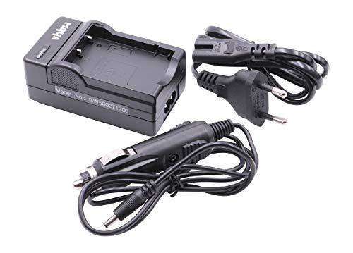 vhbw Ladegerät Ladekabel Netzteil inkl. KFZ-Adapter passend für AIPTEK AHD H350 / AHD H500 / AHD AF1 Aiptek Action HD/Digimio T6HD / SeeMe HD