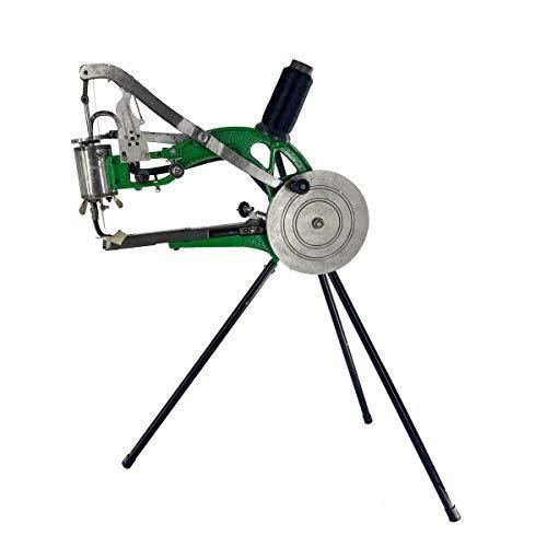 NICCOO Máquina de reparación zapatos manual Cobbler, doble hilo algodón y nailon, máquina coser para con rueda mano, especial Schumacher cuero