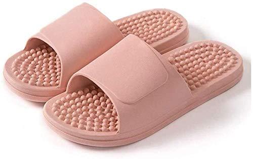 ZSW Zapatillas de Masaje para Mujer, Pareja Simple, Hombre, baño, Zapatillas de Verano, Fondo Suave, Antideslizante, toboganes Interiores (Color: 36-37)-36-37