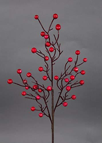 Beerenzweig 54cm rot GA Kunstzweig künstlicher Zweig künstliche Beeren Kunstblumen