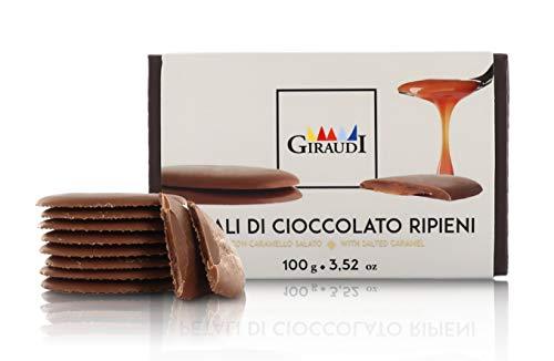 Petali Ripieni, Cioccolato al Latte con Cuore al Caramello salato, 100 Grammi, Linea Petali