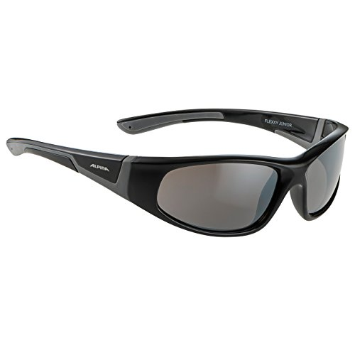 ALPINA Unisex - Kinder, FLEXXY JUNIOR Sportbrille, black-grey gloss, One Size