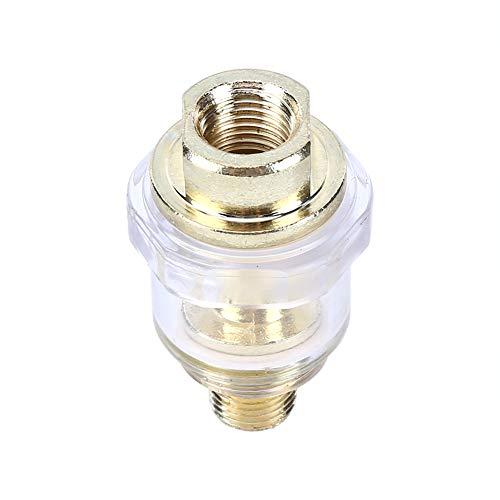 XIARUI Partes neumáticas Aleación de Zinc Hardware engrasador lubricador de 1/4' Herramienta y Aire BSP en línea engrasador engrasador por neumático Compresor de tuberías Partes de Herramientas