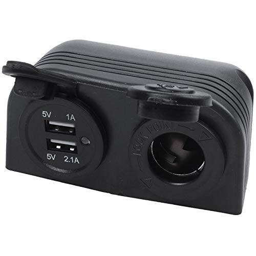 Auto Feuerzeug Dual-Boot Caravan Auto USB-Zigarettenanzünder-Splitter 12V Ladegerät-Adapter (Color Name : Black)