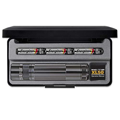 Maglite XL50 AAA en blister Piles incluses Gris 12.2 cm