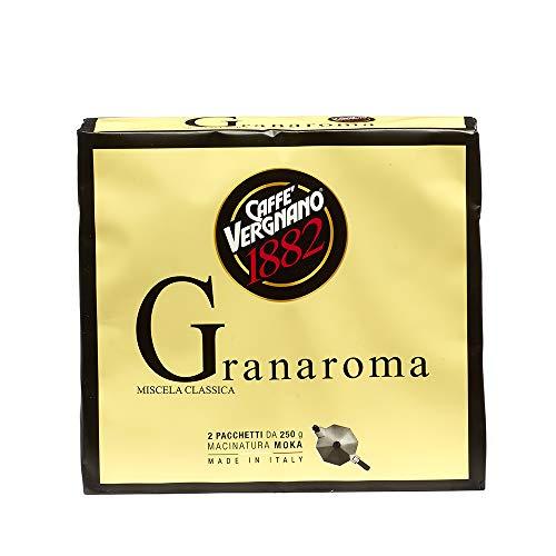 Caffè Vergnano 1882 Caffè Macinato Granaroma, 8 confezioni da 500 gr (totale 4 Kg)