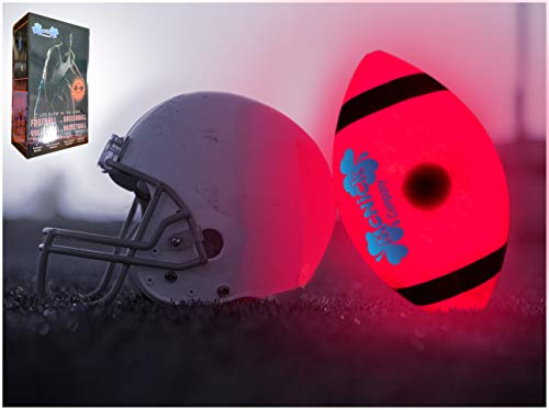 MCNICK & COMPANY LED Glow in The Dark Youth Football - 100 Hour Battery Life - Light Up Football