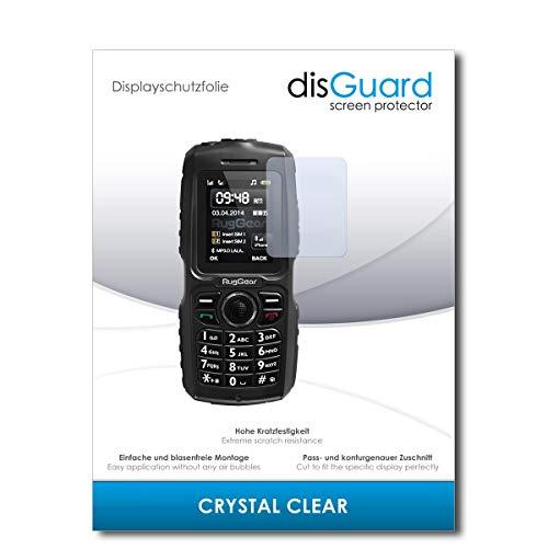 disGuard® Bildschirmschutzfolie [Crystal Clear] kompatibel mit Ruggear RG150 [2 Stück] Kristallklar, Transparent, Unsichtbar, Extrem Kratzfest, Anti-Fingerabdruck - Panzerglas Folie, Schutzfolie