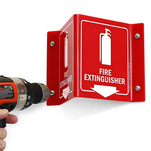 """SmartSign """"Fire Extinguisher"""" Projecting Sign with Arrow   6"""