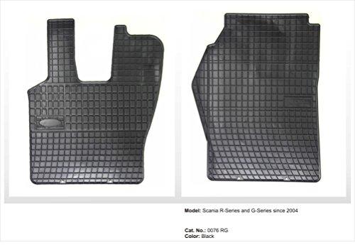 Passgenaue Gummifußmatten mit Certificat Set Super Qualität für SCANIA R-Serie ab 2004. In diesem Angebot SCHWARZ. ACHTUNG !!! Die Fussmatten passen nicht in Fahrzeuge mit dem Lenkrad auf der rechten Fahrzeugseite (englische Version)