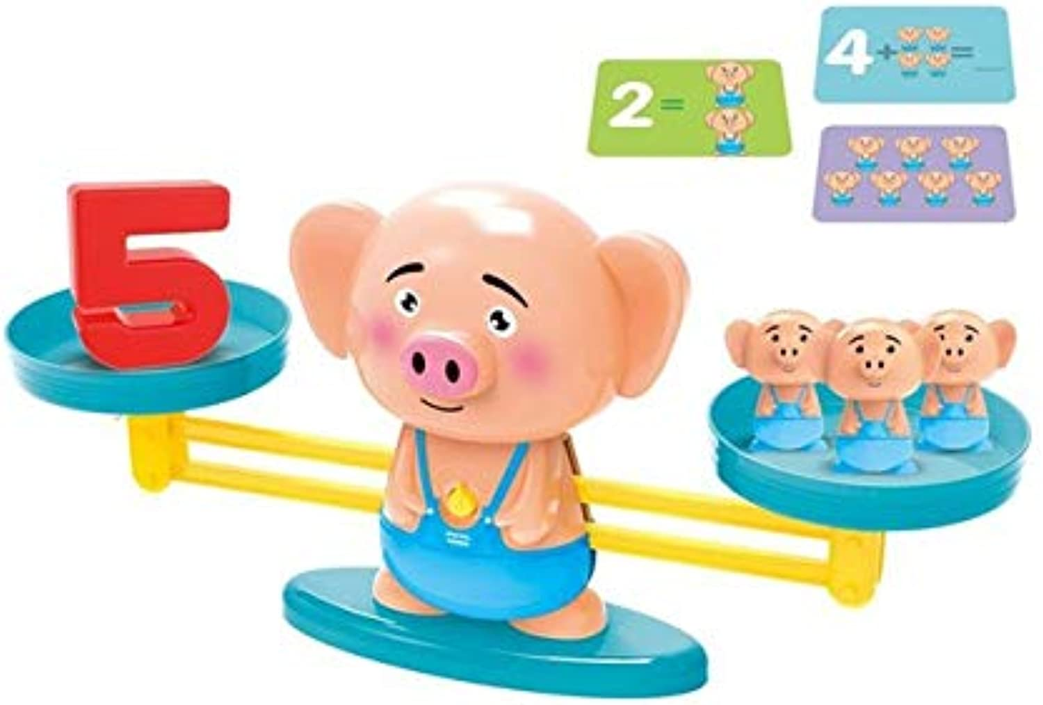 Laliva Scale Number Balance Board Game Montessori Math Balancing Monkey Pig Dog Animal Figure Baby Preschool Math Toys - (color  orange)