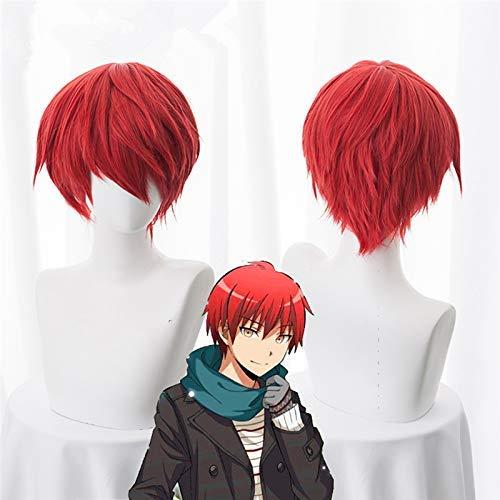 AMITD Ktip Up Attentat Klassenzimmer Karma Akabane Akashi Seijuro Sasori Perücke Kurze rote Hitzebeständigkeit Faser Cosplay Kostüm Perücken KUGBS028A