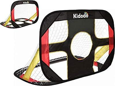 Kidodo Postes de portería de fútbol para niños, plegable y portátil, 100 x 70 x 70 cm